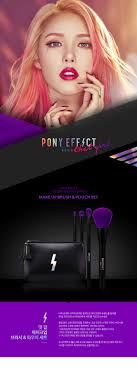 korean memebox pony effect that makeup brush and pouch set 200g makeup tools description