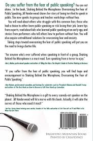 shaking behind the microphone overcoming the fear of public shaking behind the microphone overcoming the fear of public speaking jill ammon vanderwood 9781490941219 com books