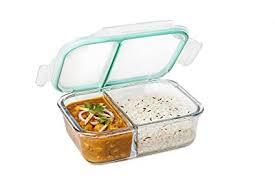 Buy Signoraware Slim <b>Small</b> Glass Lunch Box, <b>600ml</b>/33mm, Clear ...