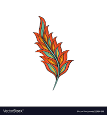 Ornament of <b>feather abstract indian</b> Royalty Free Vector