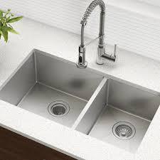 "<b>Kitchen Sink</b> 33"" L x 19"" W <b>Double</b> Basin Undermount with <b>Basket</b> ..."