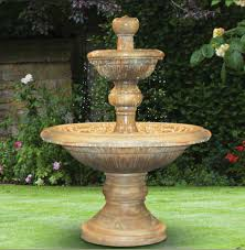 home spiral rock water patio fountain
