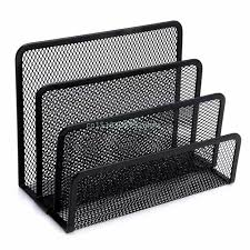 Online Shop <b>Black Metal Mesh Desk</b> Organizer Desktop Letter ...