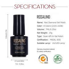 <b>ROSALIND</b> Gel 1S 7ML <b>Red</b> Yellow Diamond Gel <b>Nail Polish</b> UV ...