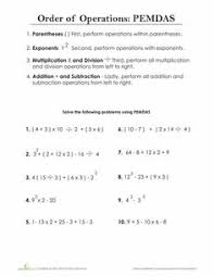 Order of operations, Free math worksheets and Free math on PinterestWorksheets: Order of Operations: PEMDAS