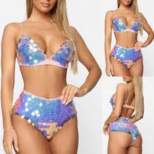 Градиент цвета Spark <b>Sequins сексуальный</b> комплект <b>бикини</b> с ...