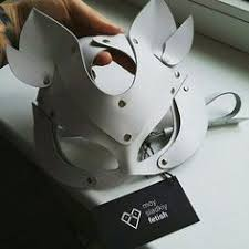 Halloween <b>Hot</b> Women <b>Sexy Cat Mask</b> Half Eyes Face <b>Leather</b> Ball ...