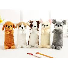 <b>Hot Sale Cartoon</b> Plush Pencil Case Kawaii Plush Dog Cat Stuffed ...