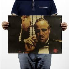 <b>The Godfather</b>/Classic Movies/Mafia kraft paper poster Bar <b>Wall</b> ...