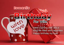 Romantic Birthday Sms Wishes For Wife - Birthday Quotes via Relatably.com