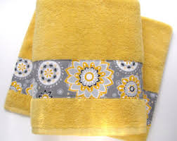hand towels yellow
