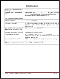 request for proposal for integrated ambulance services as dial an up to 6pm from dipr website dipronlie org