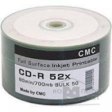 <b>CMC CD</b>-<b>R 80</b> 52x Bulk/50 Full Ink Print — купить в интернет ...