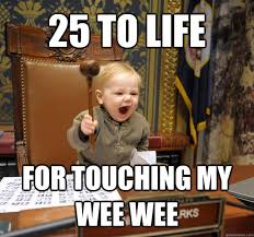25 to life for touching my wee wee - untitled meme - quickmeme via Relatably.com