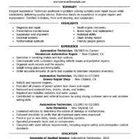 basic auto technician or mechanic resume sample featuring summary highlight experience and education an image sample automotive technician resume