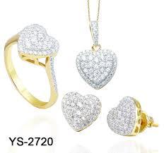 China <b>White Stone</b> Heart CZ Stone Jewelry Set - China Silver Set ...