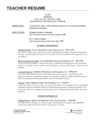 teacher resumes examples objectives cipanewsletter cover letter resume example teacher teacher aide resume example