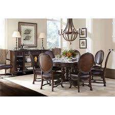 Stanley Furniture Dining Room Casa D39onore Round Oval Pedestal Dining Table Set By Stanley