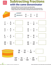 Adding And Subtracting Similar Fractions Pdf   fractions     Bing