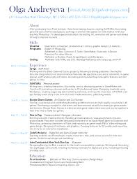 resume olga andreyeva olga andreyeva resume olga andreyeva resume