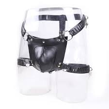 <b>PU Leather Male</b> Chastity Devices BDSM Bondage Restraints <b>Sex</b> ...