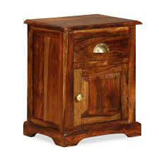 D-Shop <b>Bedside Cabinet 40x30x50</b> cm Solid Sheesham Wood ...