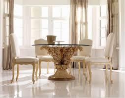 Designer Dining Room Sets Elegant Modern Dining Room Furniture Black Glass Top Table