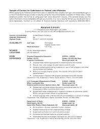 usa jobs resume format resume format  go government