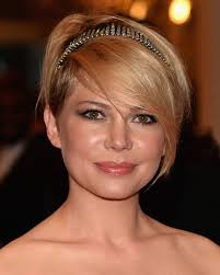 Short cut with bangs. Michelle Williams. Michelle Williams showed off her grown-out pixie cut with a jeweled headband that showed off her side-parted bangs. - Michelle%2BWilliams%2BShort%2BHairstyles%2BShort%2Bcut%2BX6PE6enmxCtl