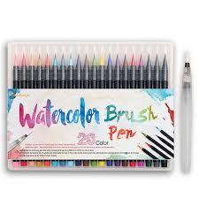 <b>20 Color Premium</b> Painting <b>Soft</b> Brush Pen Set Watercolor Copic ...