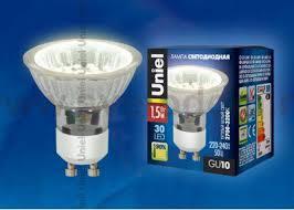 Светодиодная <b>лампа Uniel LED-JCDR-SMD-1</b>,<b>5W/WW/GU10</b> 95 ...