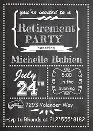 retirement party invitations custom designed new for spring  chalkboard party invitations