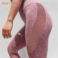 <b>Colorvalue</b> Seamless Mesh Running Sport Tights Women Mention ...