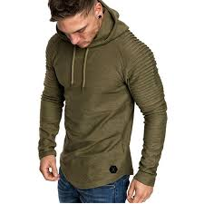 <b>Men's Fashion Hoodie</b> Round Neck Slim Body Solid Color <b>Hoodie</b> ...