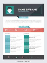 graphic designer resume cv vector graphic designer cv mockup template
