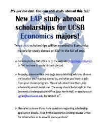 scholarship career connection economics scholarship s14