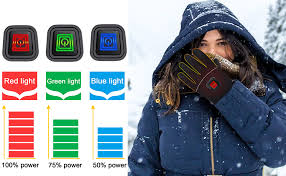 Rabbitroom Winter Electric Heated Gloves with ... - Amazon.com