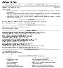 resume samples  installation  maintenance  and repairaviation and electrical technician resume