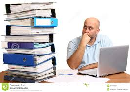 man too much work stock photo image  man too much work