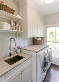 laundry sink cabinet laundry room traditional interior designs with gray counter white dryer beach style laundry room