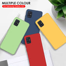 <b>Soft Silicone Pure Color</b> Shockproof Case For Samsung Galaxy A51 ...