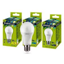 <b>Лампа Ergolux</b> LED-A60-<b>17W</b>-<b>E27</b>-6K (дневной свет) - купить по ...