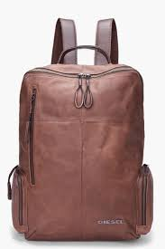 Diesel Brown Leather Forward <b>Backpack</b> for men | SSENSE ...