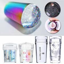 BORN PRETTY Jelly <b>Silicone Nail Art</b> Stamper Holographic Clear ...