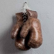 Кожаные боксёрские перчатки Sport Boxing Gloves Pair, Vintage ...