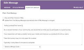 send your survey via email surveygizmo help below