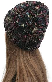 LINYIOU77 <b>Women Winter Knitted</b> Slouchy Beanie Chunky Cable ...