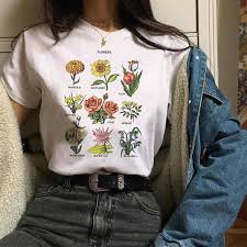 <b>Wildflower graphic tees</b> floral print summer <b>women</b> tops large size ...