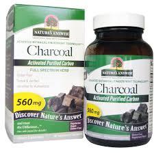 Nature'S Answer <b>Charcoal Activated Purified Carbon</b> 560 Mg ...