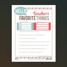 best photos of teachers favorites list examples teacher favorite teacher favorite things questionnaire printable